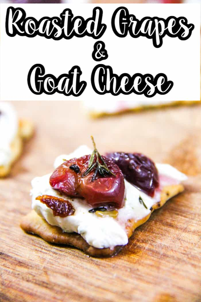 Roasted Grapes and Goat Cheese Bites