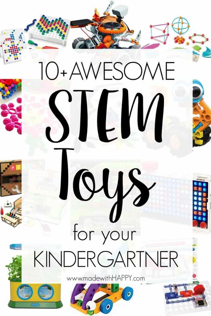 Stem Toys for your kindergartner.  STEM Toys for kids. Toy ideas for kids that get them thinking!