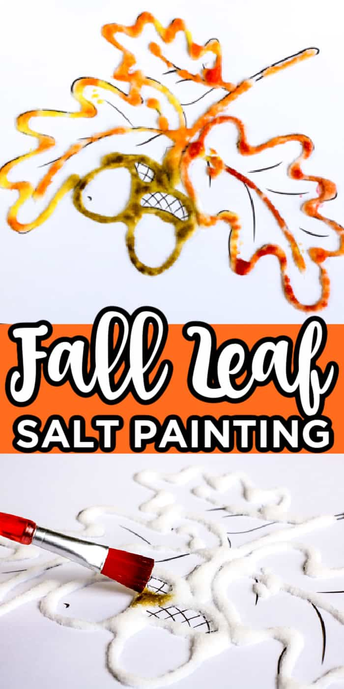 Fall Leaf Salt Painting