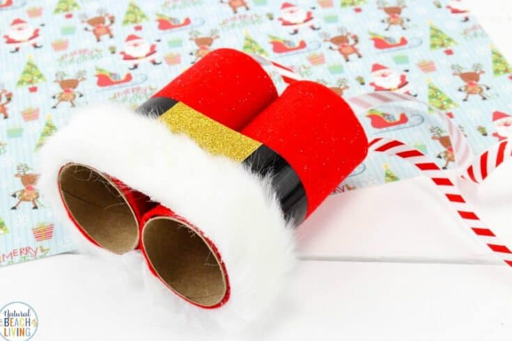 Santa Binoculars Christmas Craft for Kids