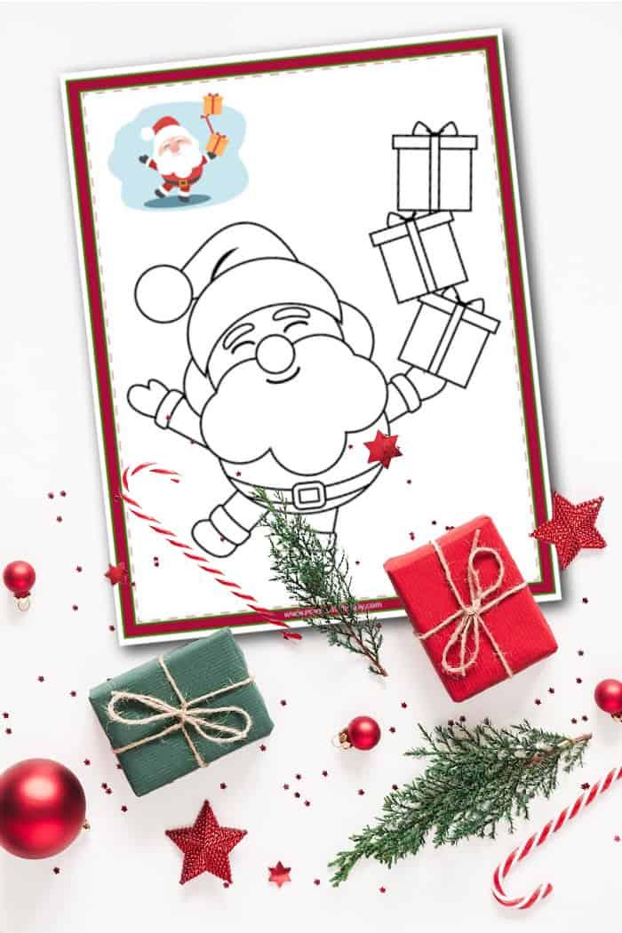 Santa Coloring Page 2