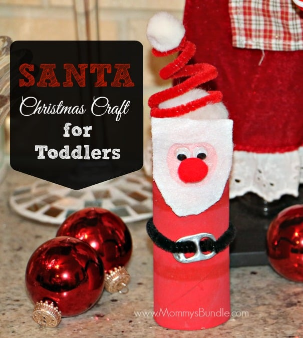 Santa Christmas Craft for Toddlers