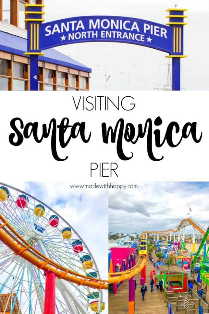 Visiting Santa Monica Pier. Things to do in Santa Monica for family. Family travel to Los Angeles. Visiting the beach in LA. Visiting the Santa Monica Boardwalk. Things to do in Venice. www.madewithhappy.com