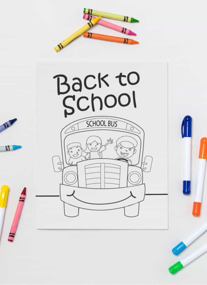 Coloring a school bus