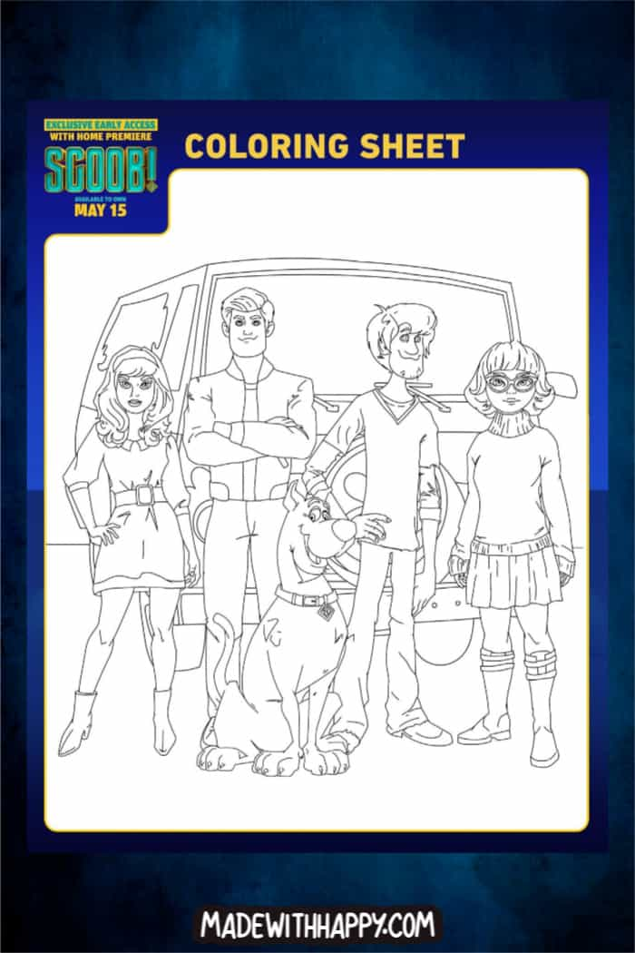 Free Printable Scooby Doo Coloring Pages For Kids