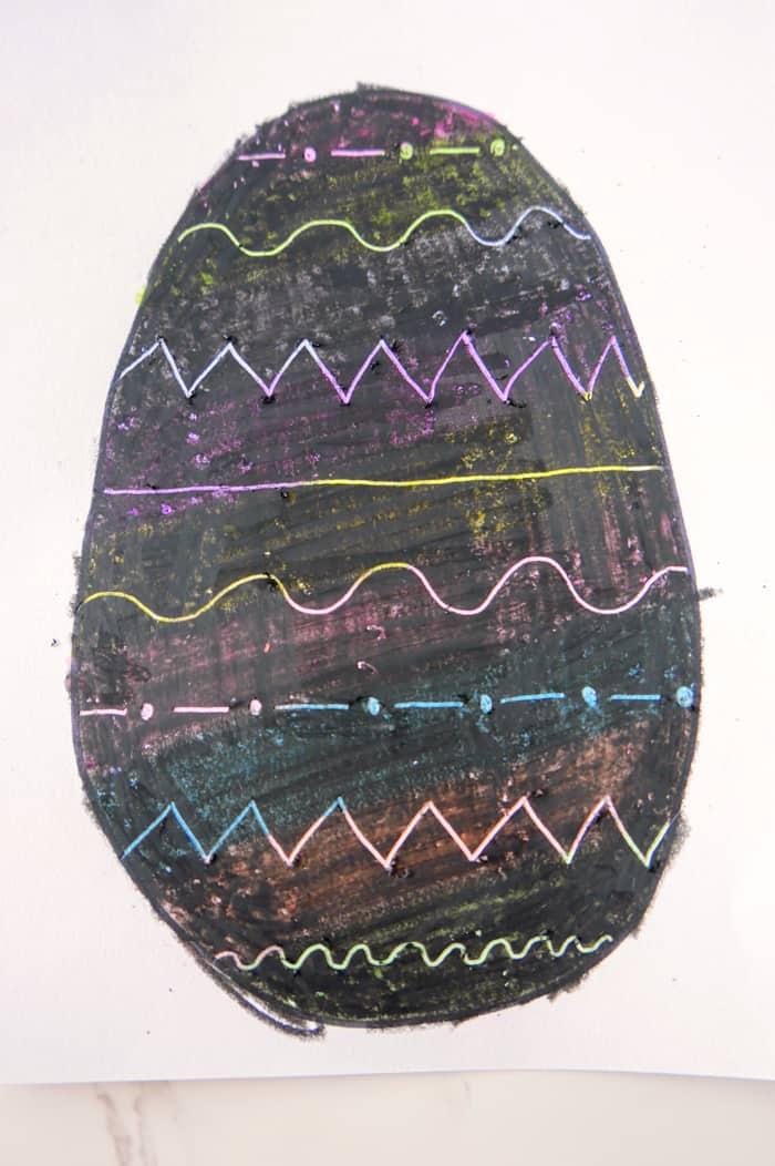 scratched off egg