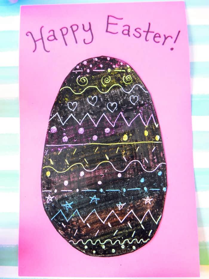 Scratch Off Easter Egg Paper Craft