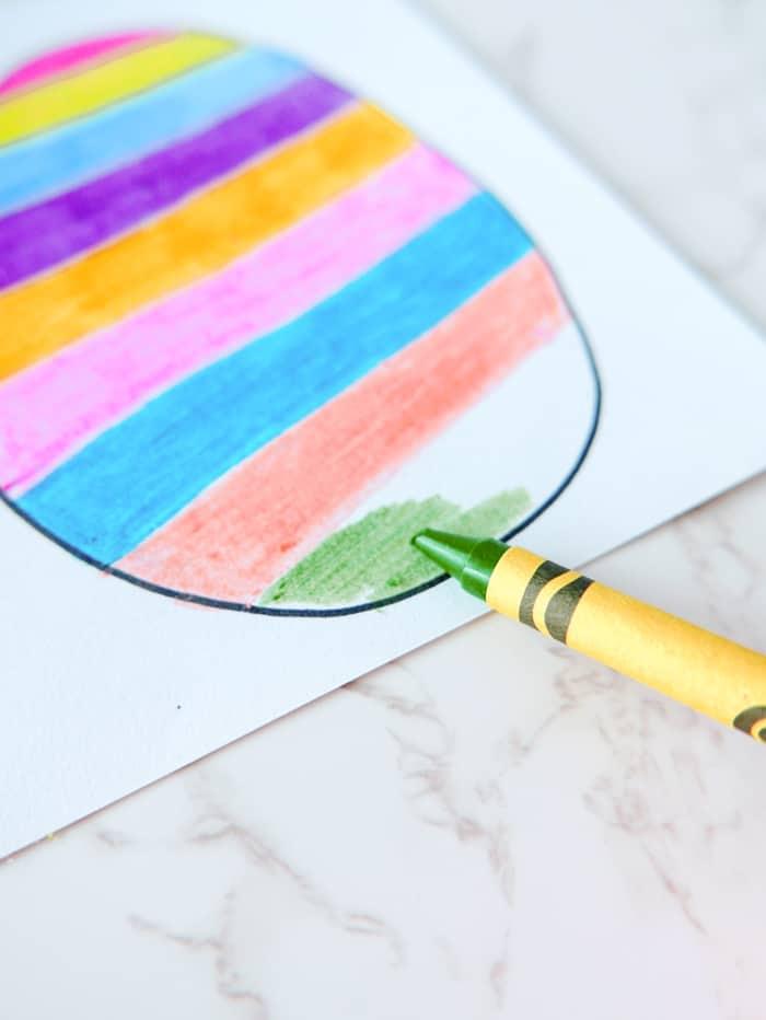 color stripes on egg