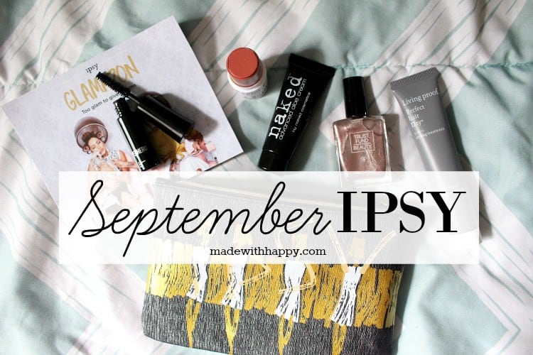 September IPSY Bag | Beauty Bag Subscription | Monthy Beauty | www.madewithhappy.com