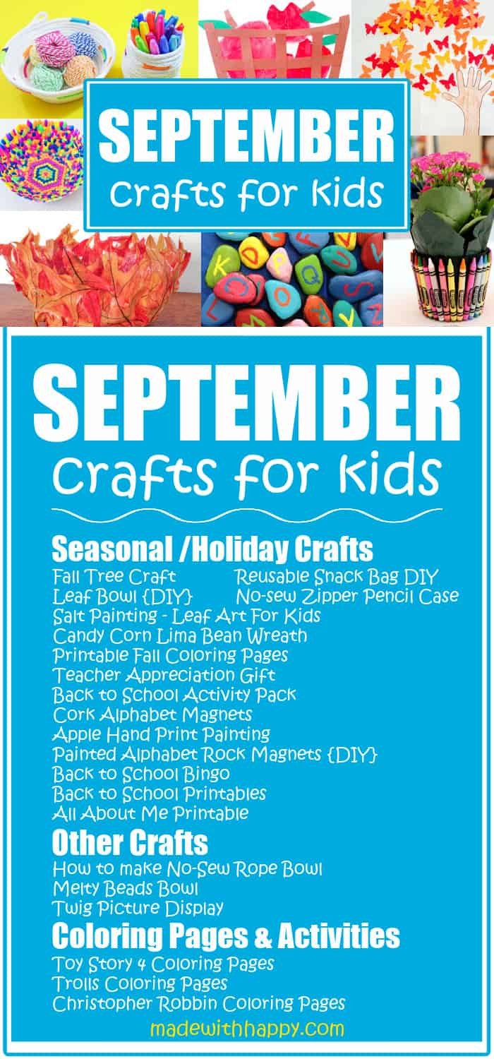 Kids Crafts for September