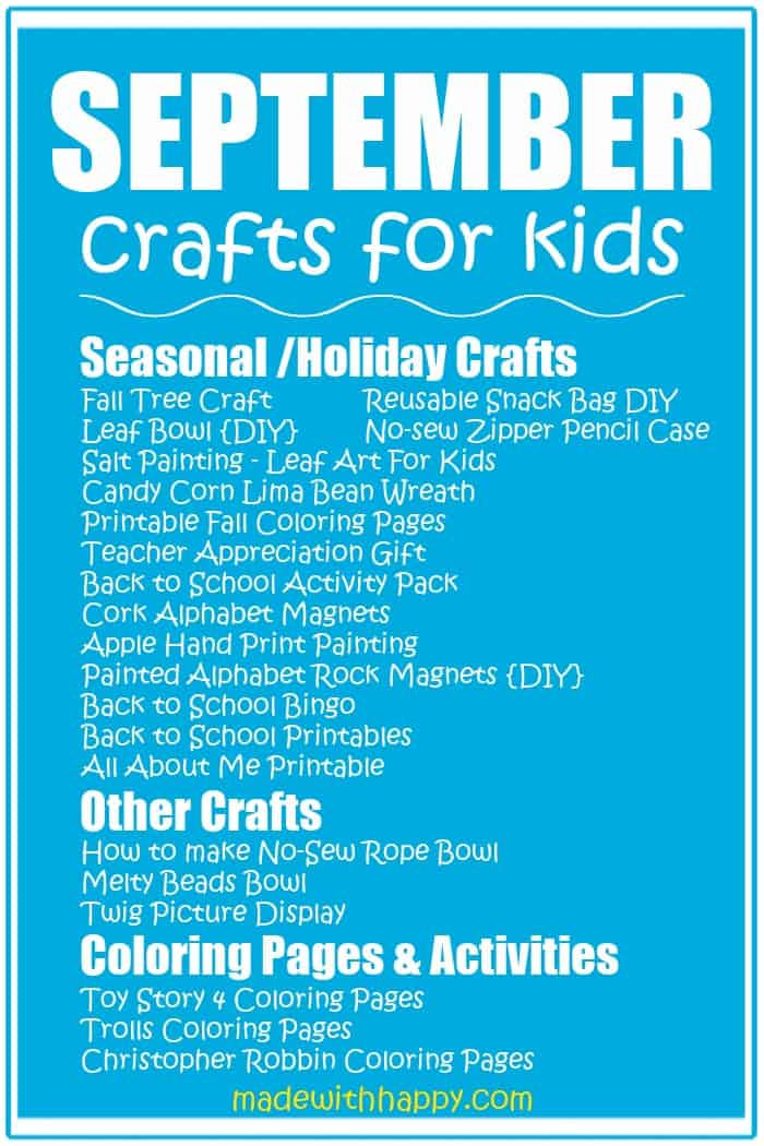 September Crafts For Kids