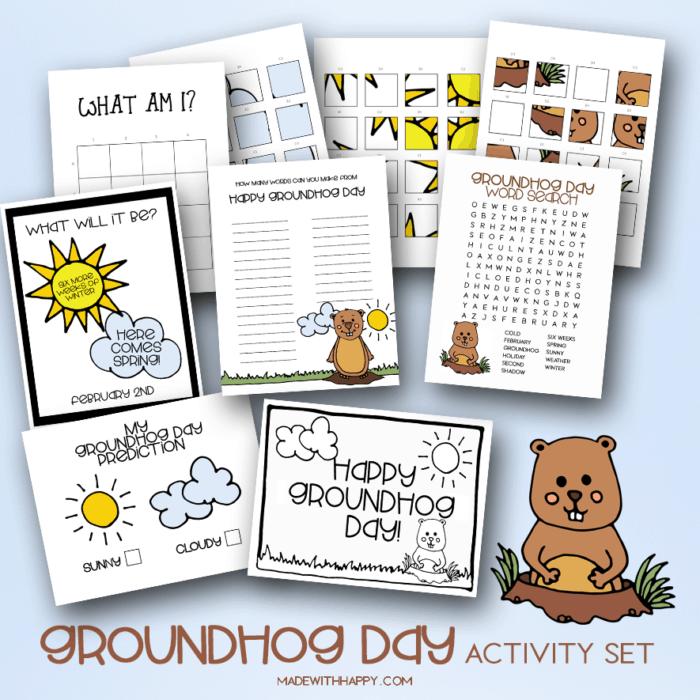 Groundhog Day Activities Set