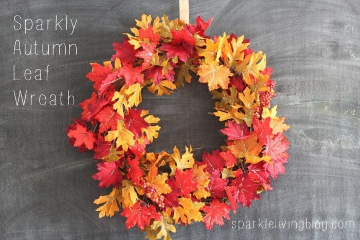 Sparkly Autumn Wreath. AUTUMN CRAFTS AND RECIPE IDEAS. When the leave start to turn, its time to get crafty and decorate the house. Autumn DIY and Crafts.
