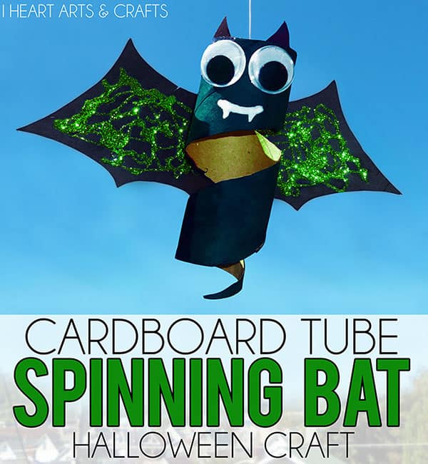 cardboard tube spinning bat