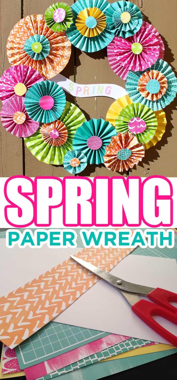 Spring Pinwheel Paper Wreath