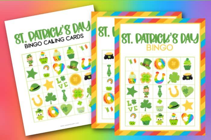 st patrick's day bingo printable