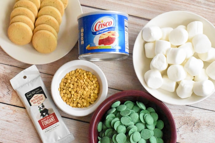 Ingredients for Leprechaun Hat Cookies