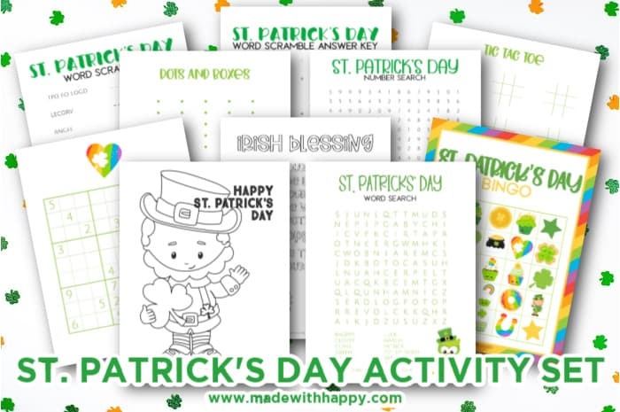 st patrick's day free activities for kids