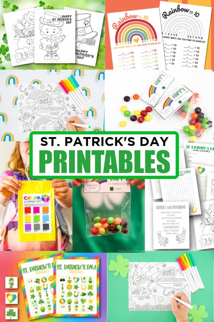 free printable st patrick's day worksheets