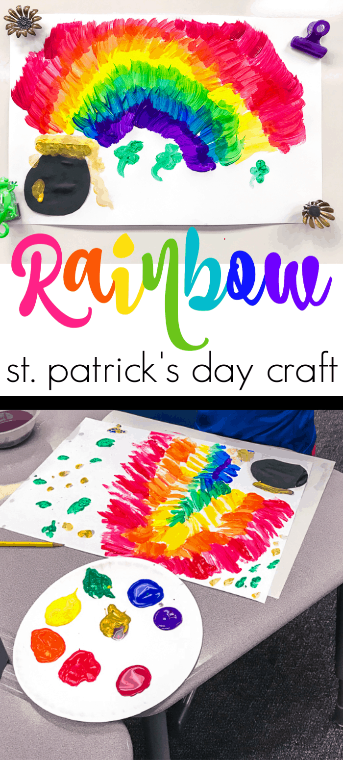 St. Patricks Day Rainbow Art Project. Looking for St. Patricks Day Art for 1st Graders, then we have the perfect project.