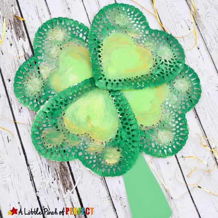 St. Patrick's Day Shamrock Doily Craft