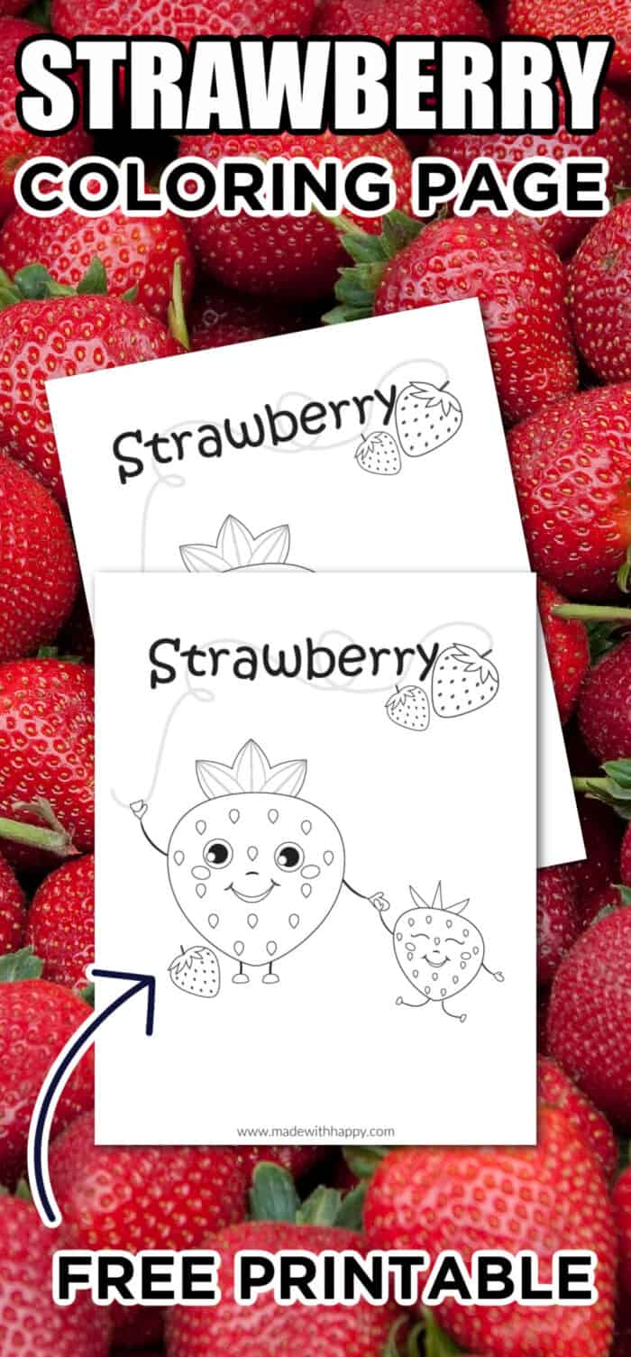 strawberry coloring sheet