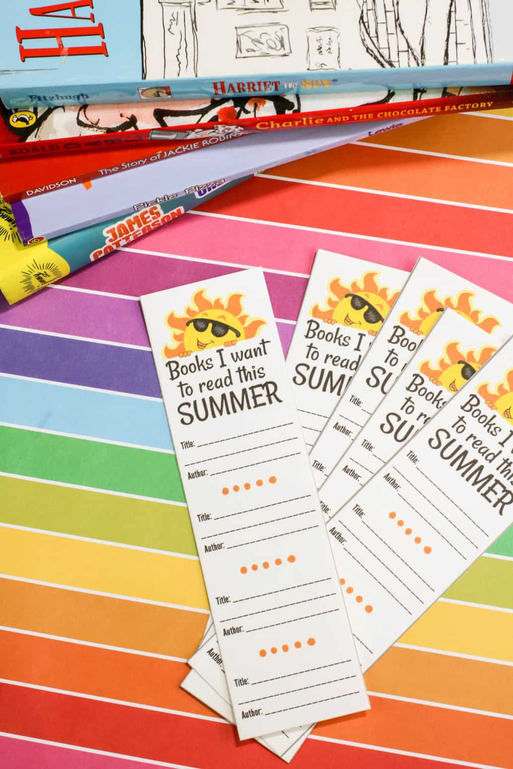 Summer Reading Logs Bookmark Printables