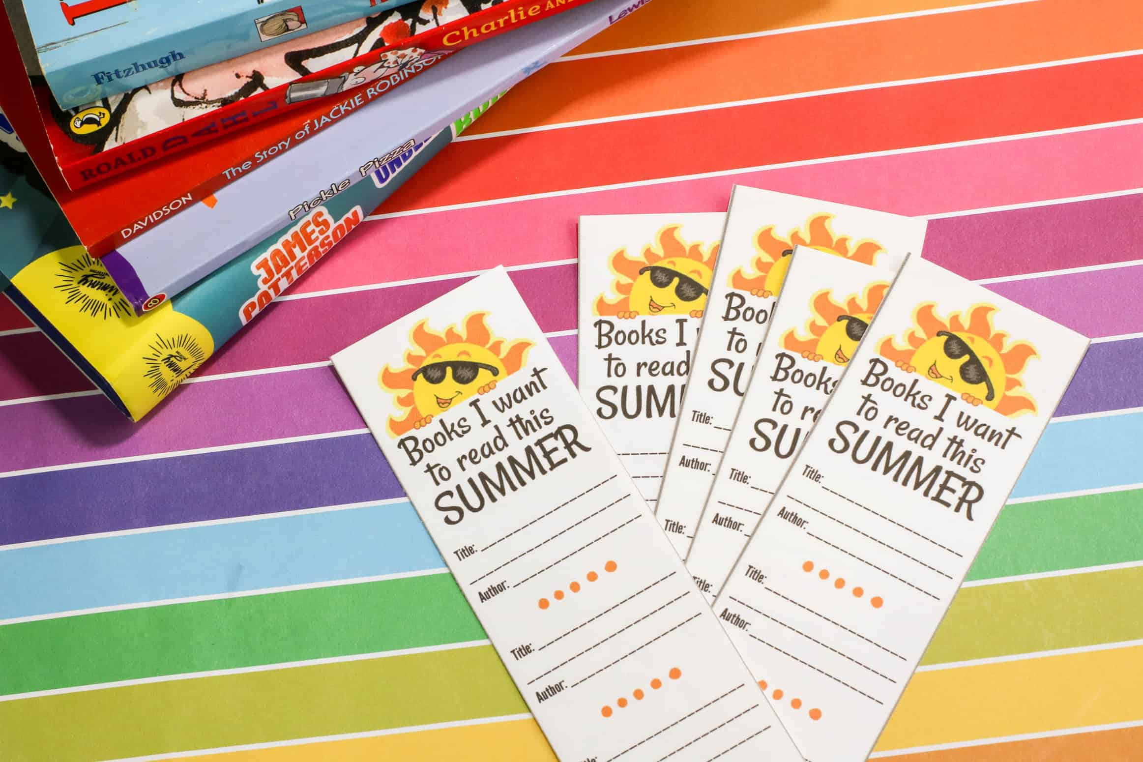 Printable Bookmarks for Summer