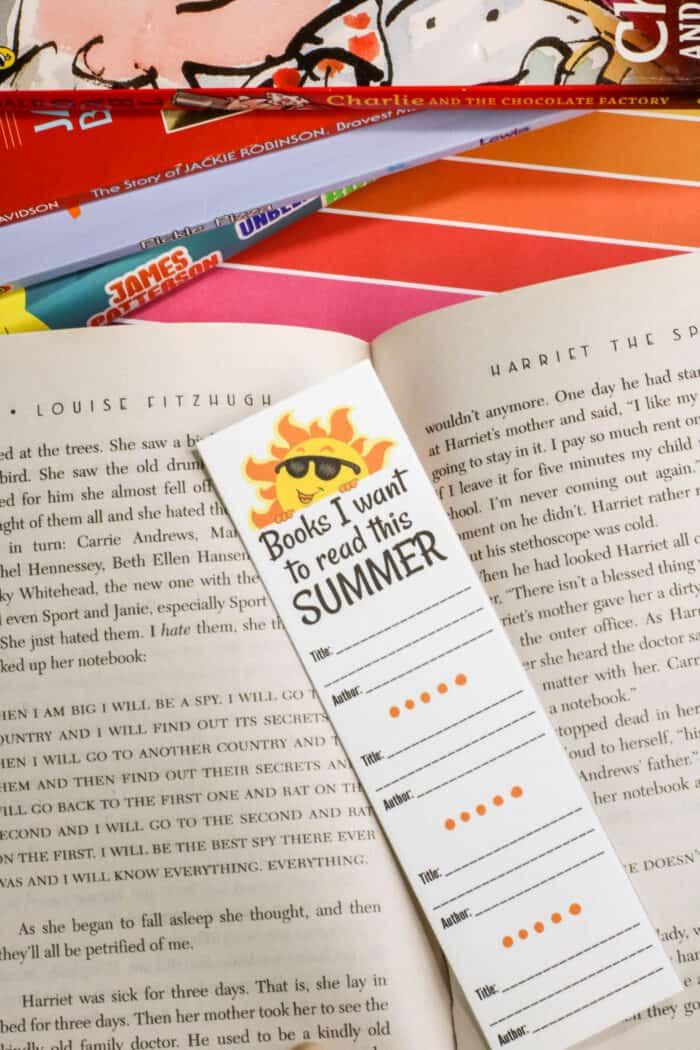 Bookmark in a book