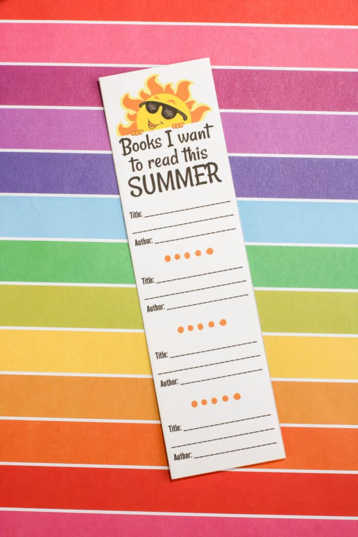 Summer Reading Log Printable Bookmark - Made with HAPPY