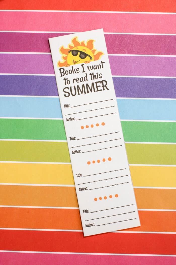 Printable Bookmark