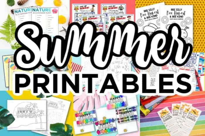 Summer Printable Kids Crafts