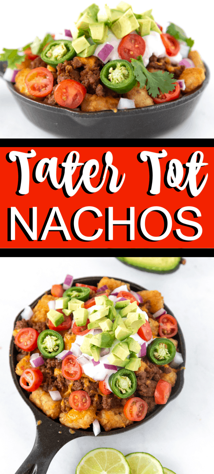 Super Bowl Nacho Recipe. These loaded tater tot nachos recipe is the perfect game day appetizer. We have what is soon to be your favorite totchos recipe loaded with all the fixings.