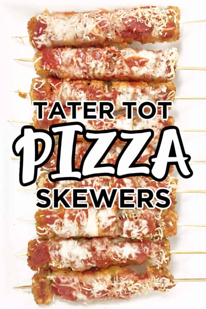 Tater Tot Pizza Skewers