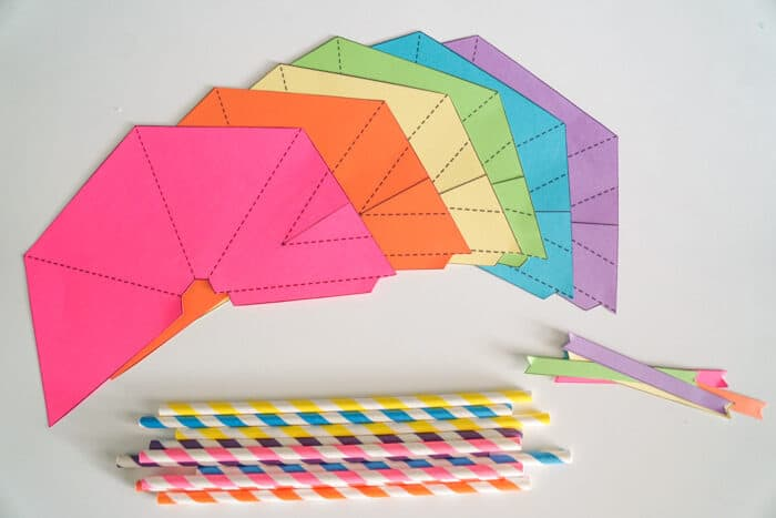 Colorful teepee template