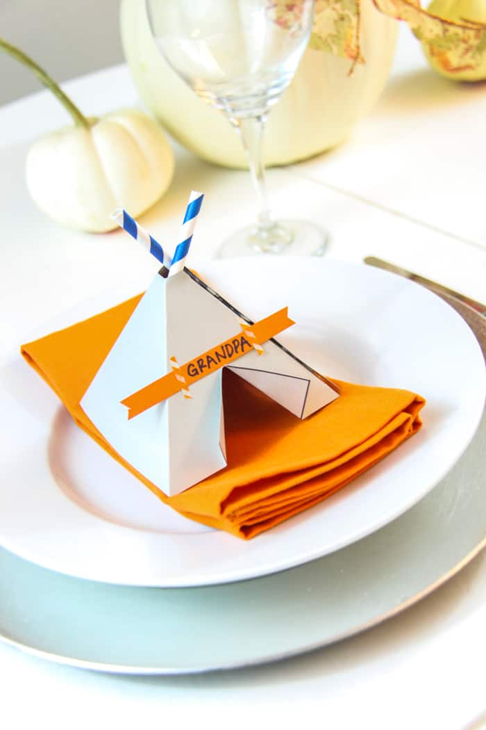 teepee place setting
