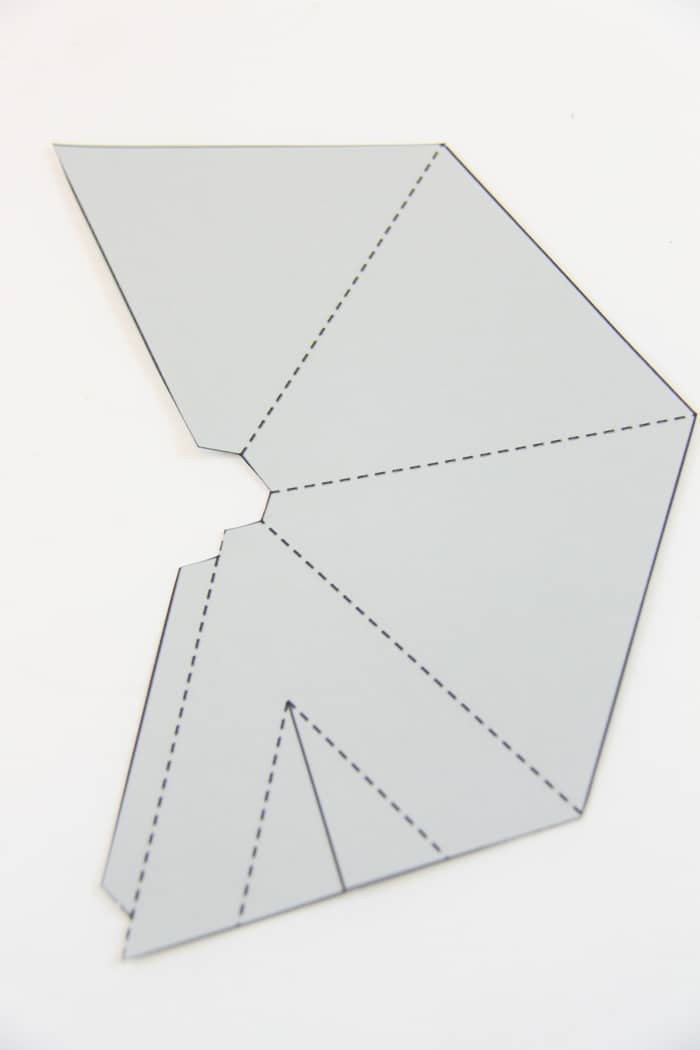 Paper teepee template