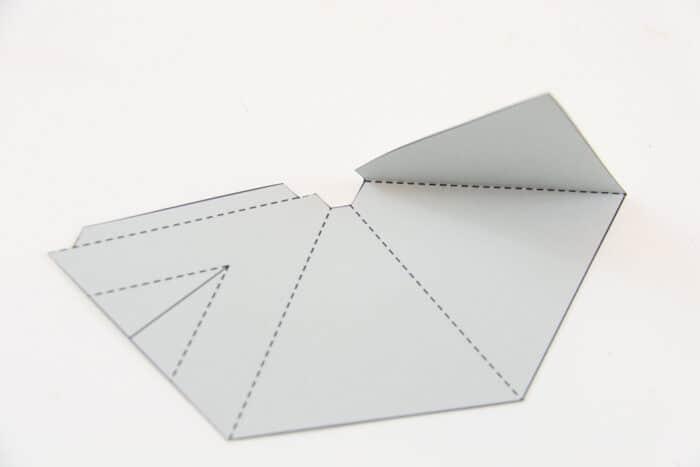 Folding a paper teepee