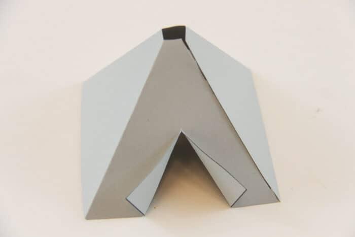 Cut and folded Teepee
