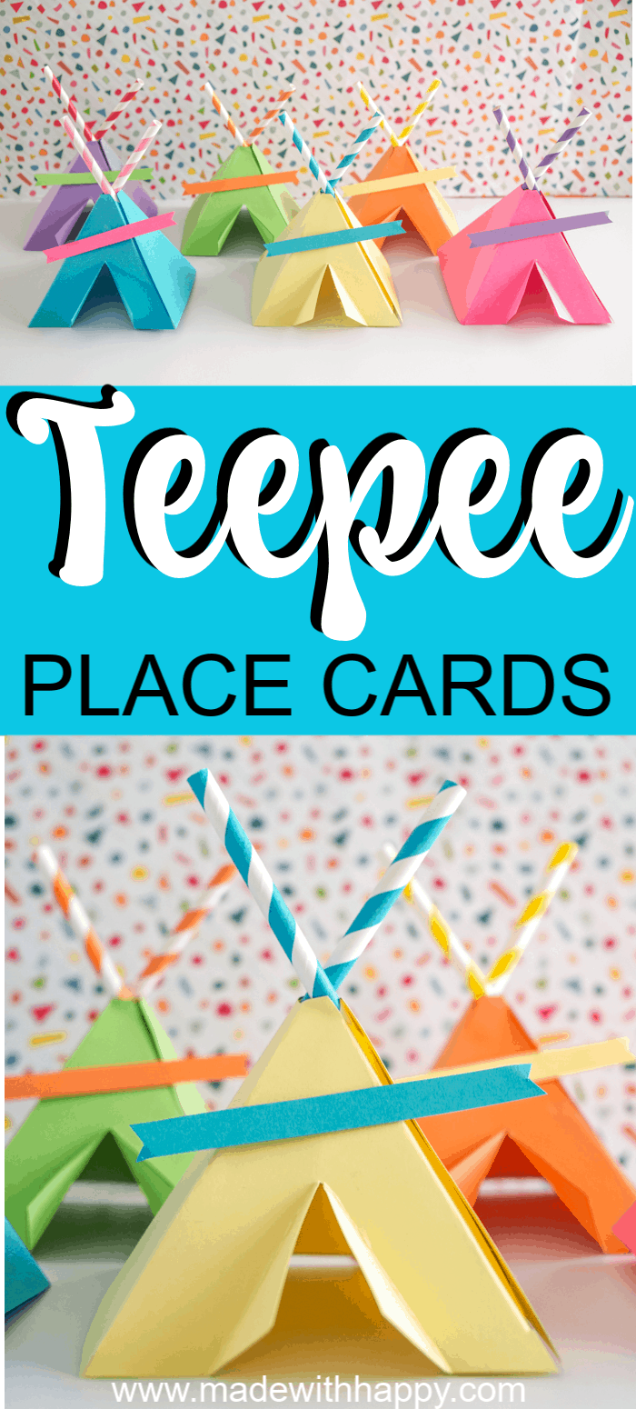 Colorful Teepees Crafts.