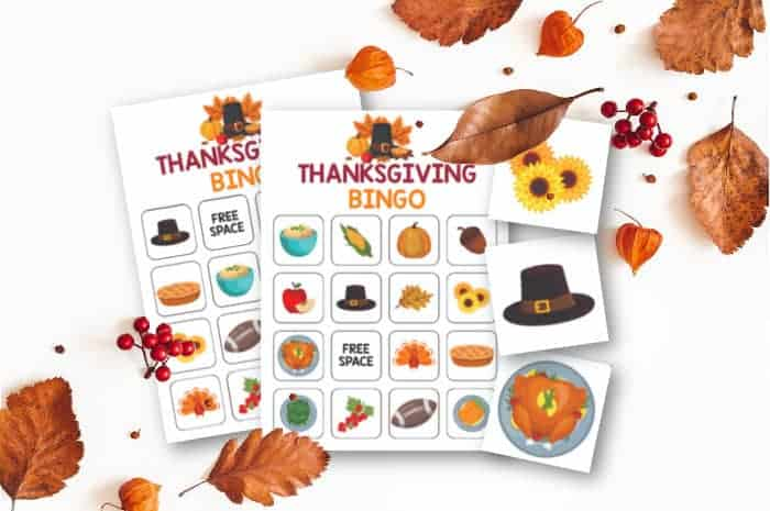 Thanksgiving Bingo Game and Calling Cards