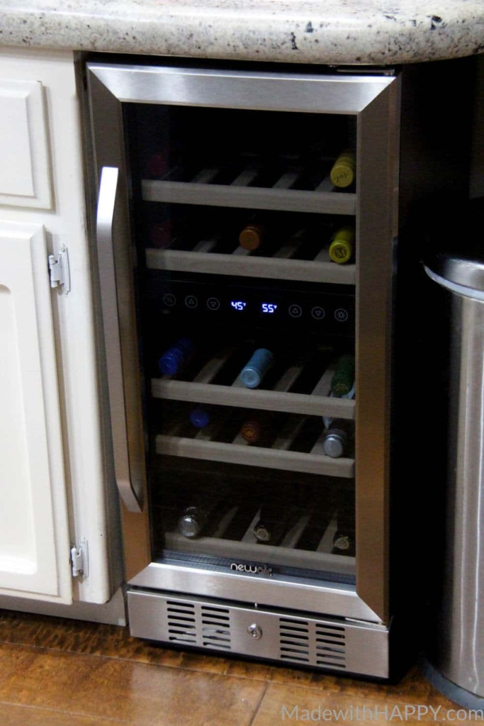 5 Tips to Storing Wine | Wine storage Tips | How to buy a wine cooler | Wine Fridge | www.madewithhappy.com