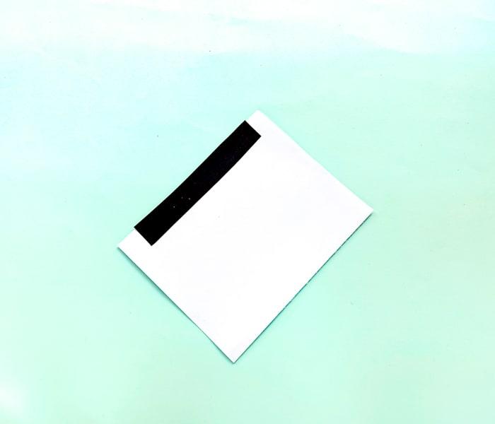 Snowman Craft paper with black strip