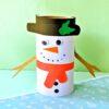 Toilet Paper Roll Craft - Snowman Craft