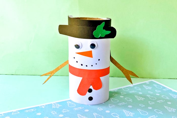 Toilet Paper Roll Craft - Snowman Craft