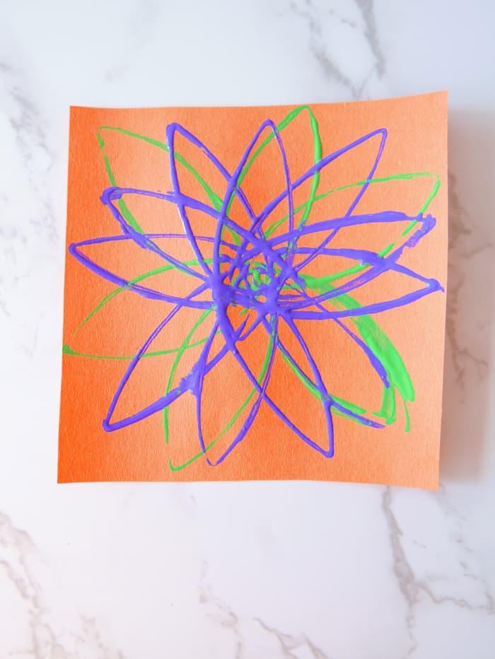 flower stamp on paper