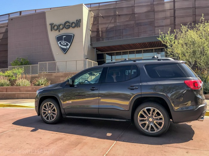 GMC Acadia and TopGolf - Versatile car that is great at carrying your clubs. Fun things to do in Phoenix Arizona. Phoenix Arizona Attractions. Spring Break Road Trip from San Diego to Phoenix. Fun Stops from California to Arizona.