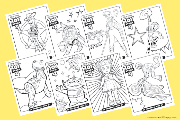 Disney Pixar Toy Story 4 Coloring Pages
