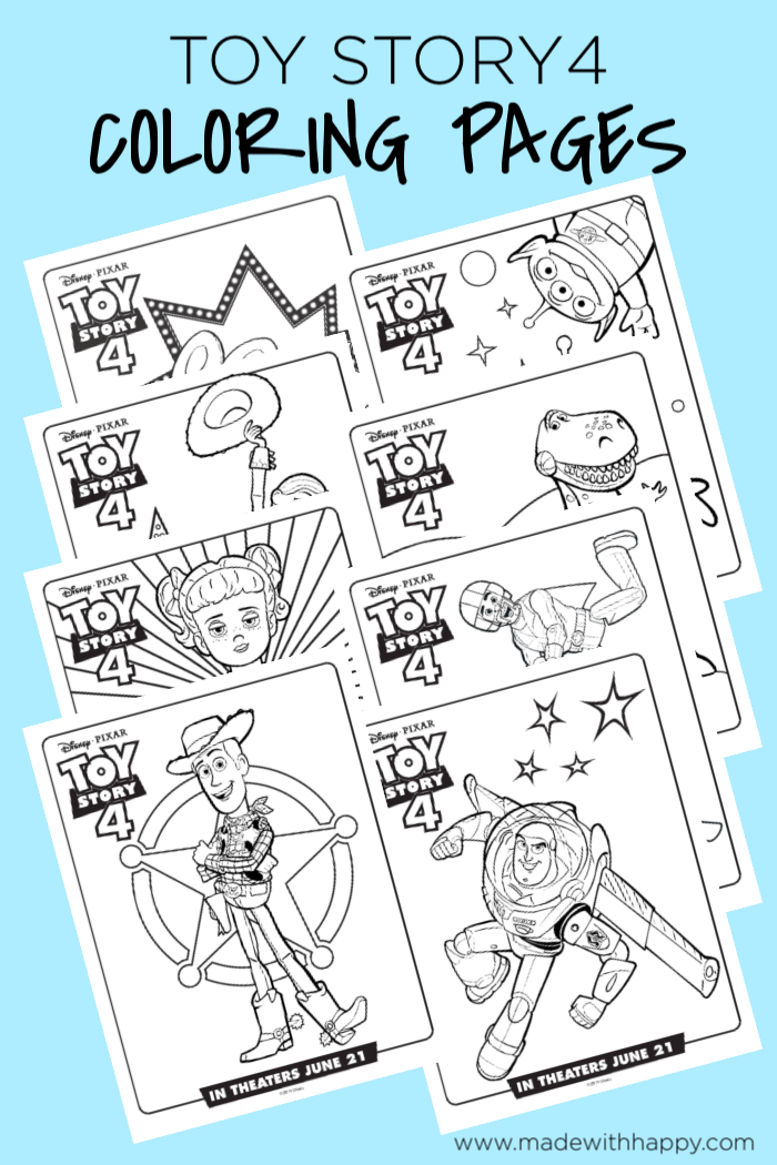 Toy Story 4 Coloring Pages Free Printable