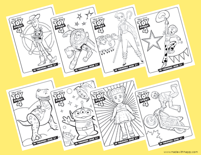 Disney 's Toy Story 4 Coloring Pages